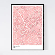 Load image into Gallery viewer, Archway Neighbourhood Map Print