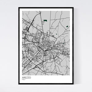 Arezzo City Map Print