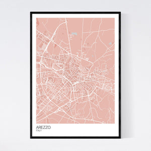 Map of Arezzo, Italy
