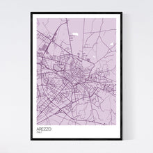Load image into Gallery viewer, Arezzo City Map Print