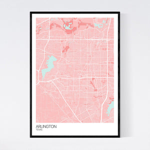 Arlington City Map Print