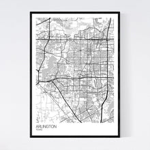 Load image into Gallery viewer, Arlington City Map Print