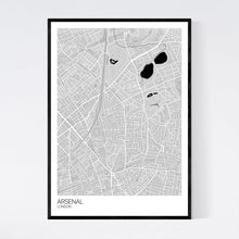 Load image into Gallery viewer, Arsenal Neighbourhood Map Print