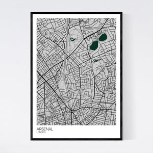 Map of Arsenal, London