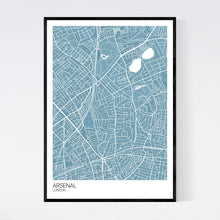 Load image into Gallery viewer, Map of Arsenal, London