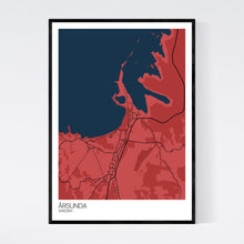 Load image into Gallery viewer, Årsunda City Map Print