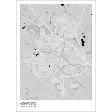 Load image into Gallery viewer, Map of Ashford, United Kingdom