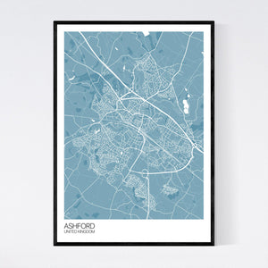 Ashford City Map Print