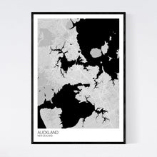 Load image into Gallery viewer, Auckland City Map Print