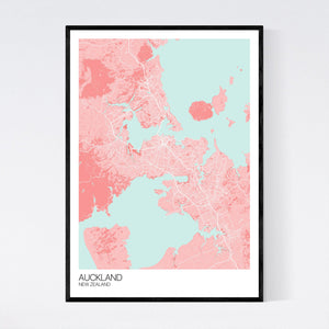 Auckland City Map Print