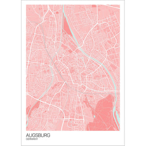 Map of Augsburg, Germany