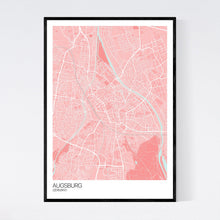 Load image into Gallery viewer, Map of Augsburg, Germany