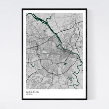 Load image into Gallery viewer, Augusta City Map Print
