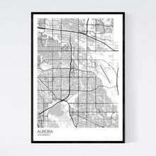 Load image into Gallery viewer, Aurora City Map Print