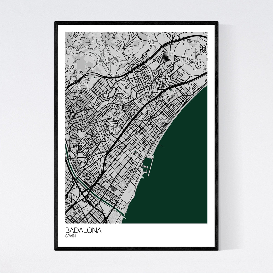 Badalona City Map Print