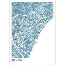Load image into Gallery viewer, Map of Badalona, Spain
