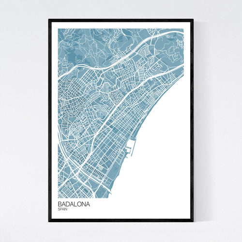 Map of Badalona, Spain