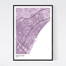 Load image into Gallery viewer, Badalona City Map Print