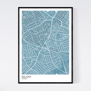 Balham Neighbourhood Map Print