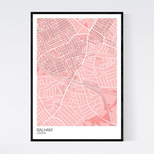 Load image into Gallery viewer, Map of Balham, London