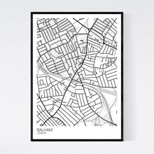 Load image into Gallery viewer, Balham Neighbourhood Map Print