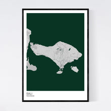 Load image into Gallery viewer, Bali Island Map Print