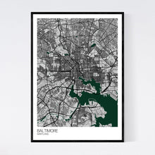 Load image into Gallery viewer, Baltimore City Map Print