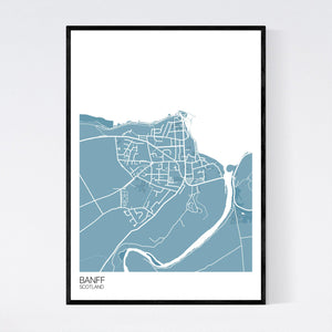 Map of Banff, Scotland