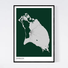 Load image into Gallery viewer, Barbuda Island Map Print
