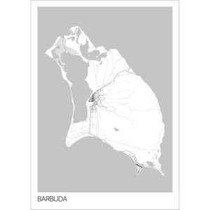 Map of Barbuda,