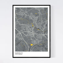 Load image into Gallery viewer, Map of Barnsley, United Kingdom
