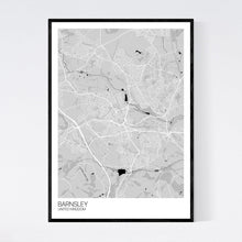 Load image into Gallery viewer, Barnsley City Map Print