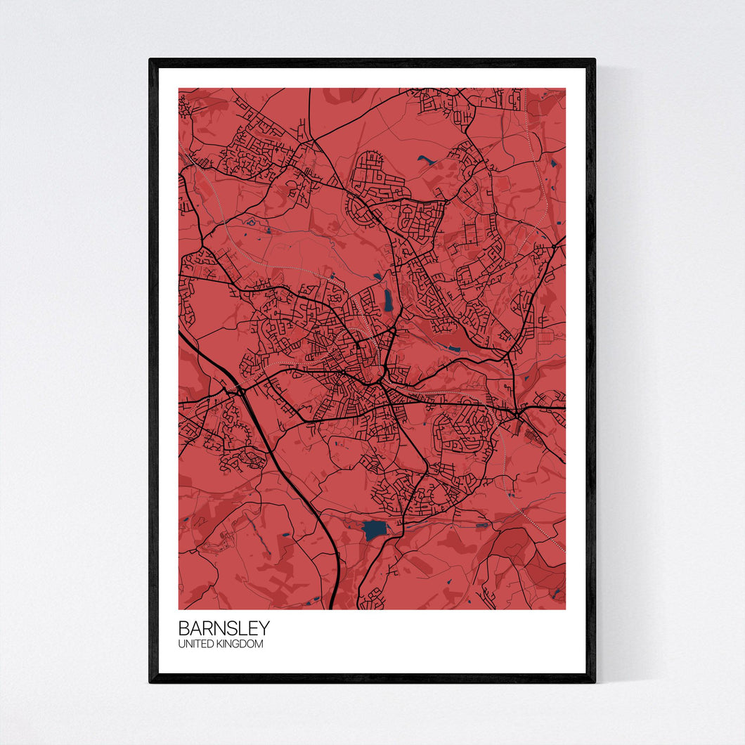 Barnsley City Map Print