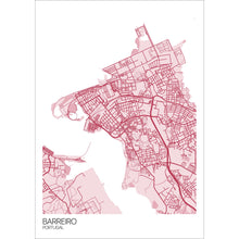 Load image into Gallery viewer, Map of Barreiro, Portugal