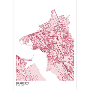 Map of Barreiro, Portugal