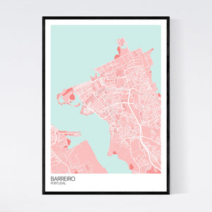 Barreiro City Map Print
