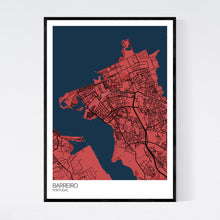 Load image into Gallery viewer, Barreiro City Map Print