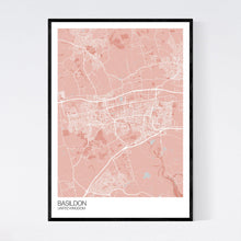 Load image into Gallery viewer, Basildon City Map Print