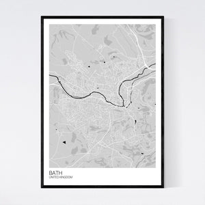 Bath City Map Print