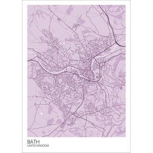 Map of Bath, United Kingdom