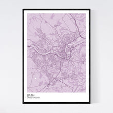 Load image into Gallery viewer, Map of Bath, United Kingdom