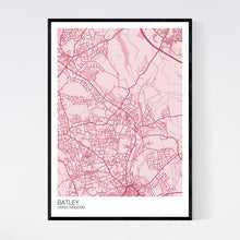 Load image into Gallery viewer, Batley City Map Print