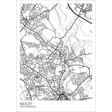 Load image into Gallery viewer, Map of Batley, United Kingdom