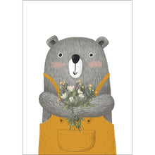 Load image into Gallery viewer, Bear with Flowers Print