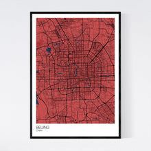 Load image into Gallery viewer, Beijing City Map Print