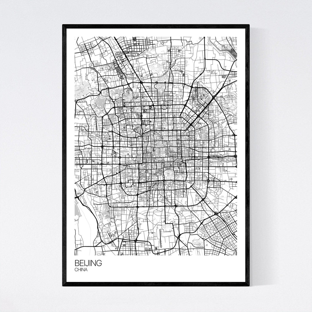 Beijing City Map Print