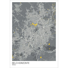 Load image into Gallery viewer, Map of Belo Horizonte, Brazil