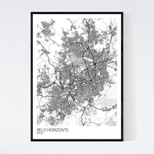 Load image into Gallery viewer, Belo Horizonte City Map Print