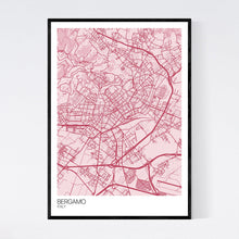 Load image into Gallery viewer, Bergamo City Map Print