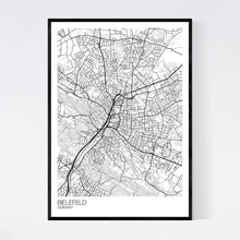 Load image into Gallery viewer, Bielefeld City Map Print